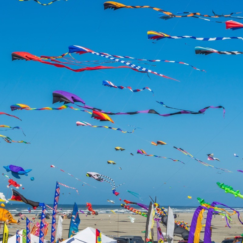 So many kites at the kite festival.