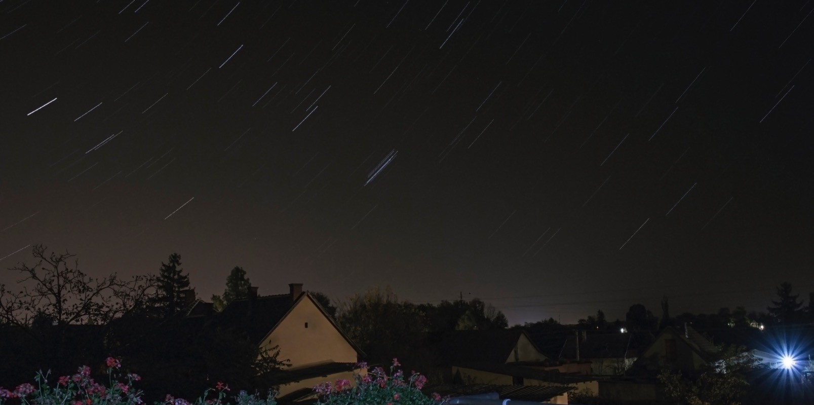 A view of the meteor shower from our roof.