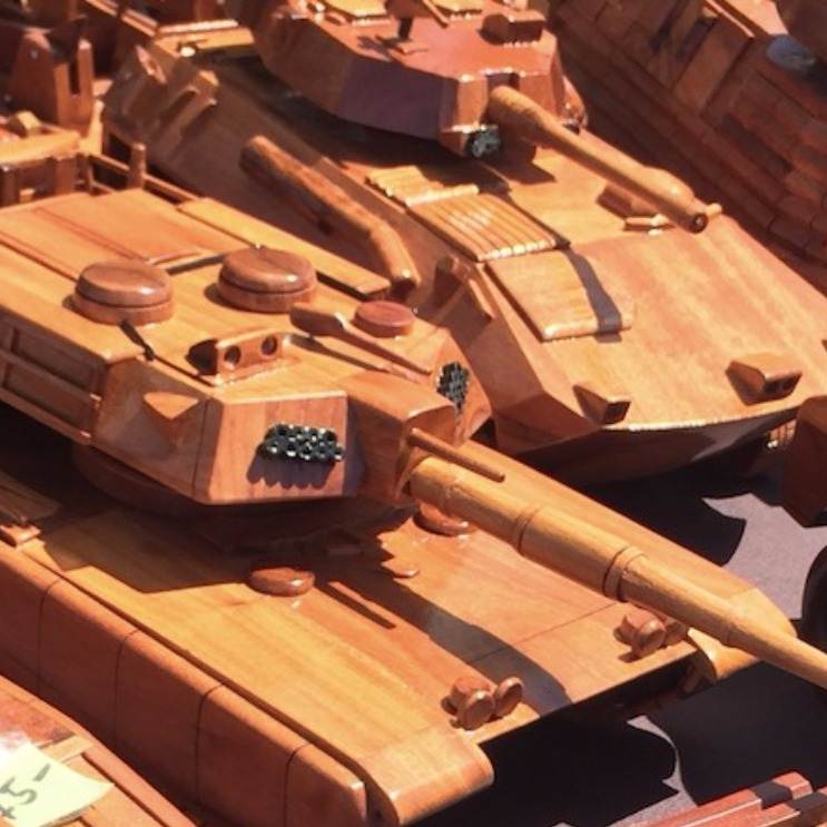 Handmade wooden tanks by Vets