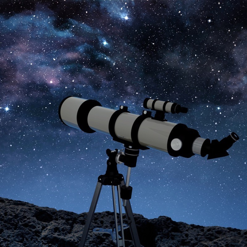 Our new telescope in use.