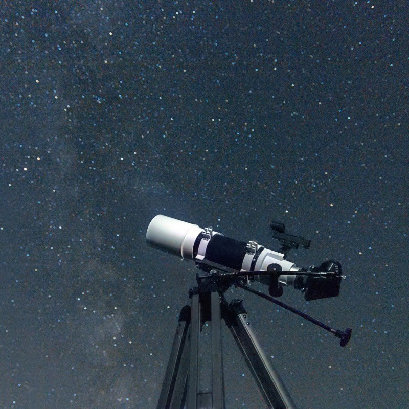 Our new telescope in action.