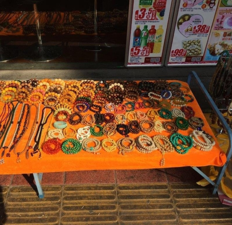 Jewelry and trinkets are common.