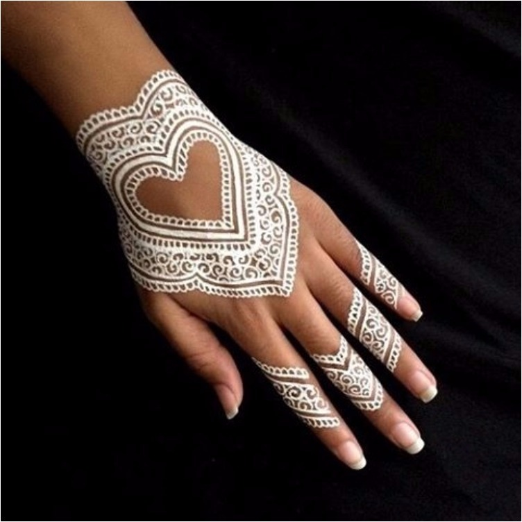 Gorgeous white Henna