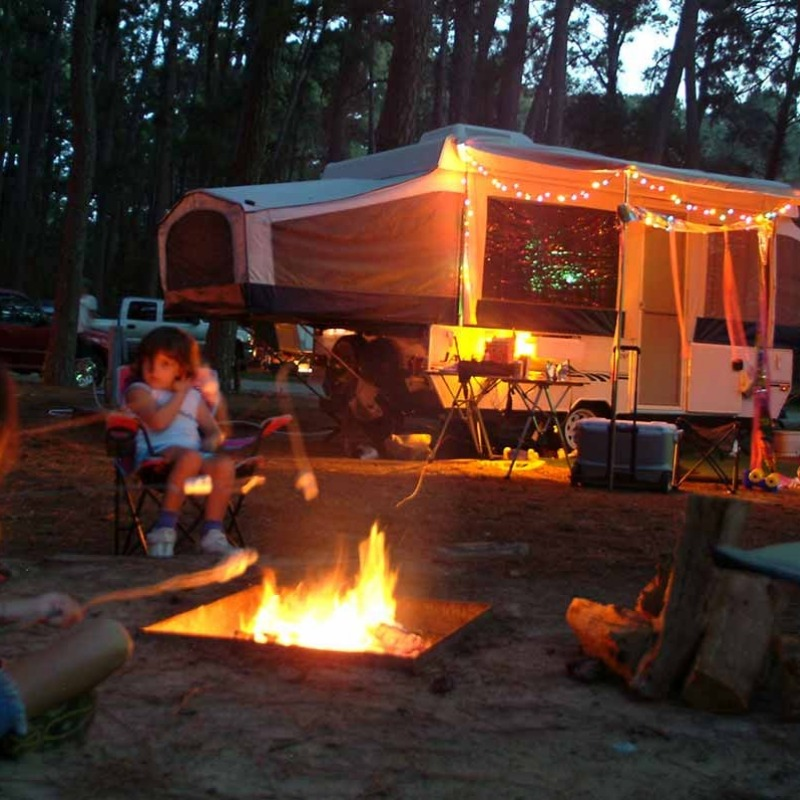 We love campfires outside our RV. Anyone can join!