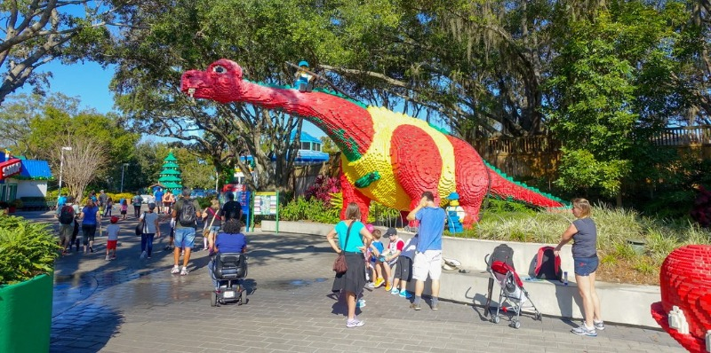 Huge Lego sculptures like this are everywhere.