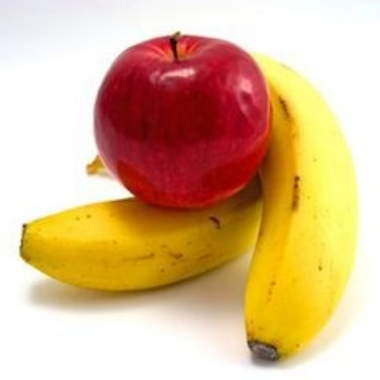 Bananas and apples are perfect fuel