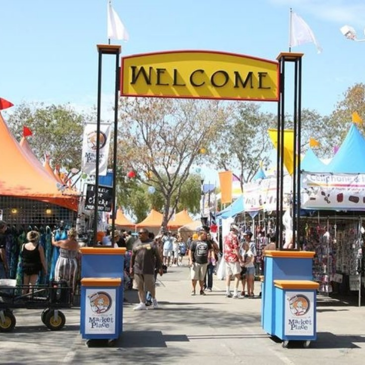 Entrance to the swap meet