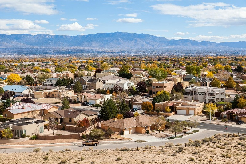 Albuquerque, New Mexico where we settled down (finally).