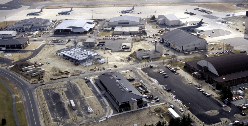 The McGuire Air Force Base aerial view.