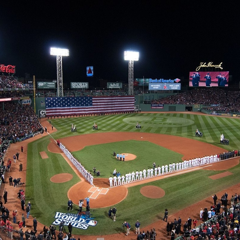 Fenway Park during the World Series