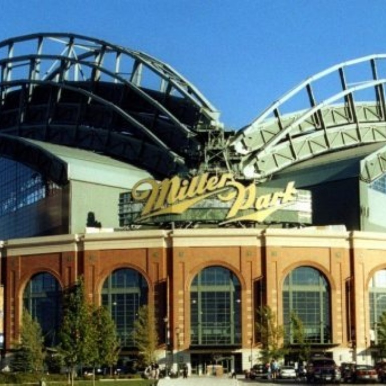 The entrance to Miller Park.