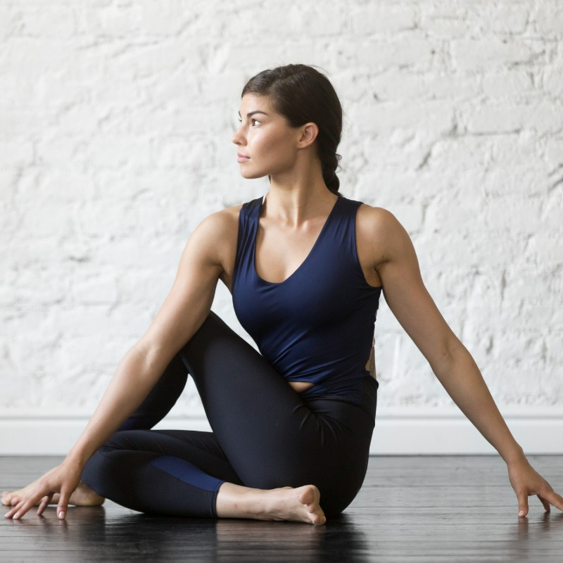 Yoga tops allow for all kinds of poses and stretches