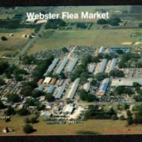 We found an old postcard of the exact Webster flea market!