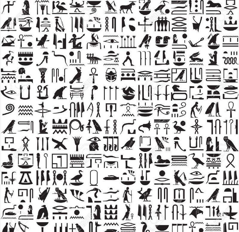 Hundreds of symbols to decipher