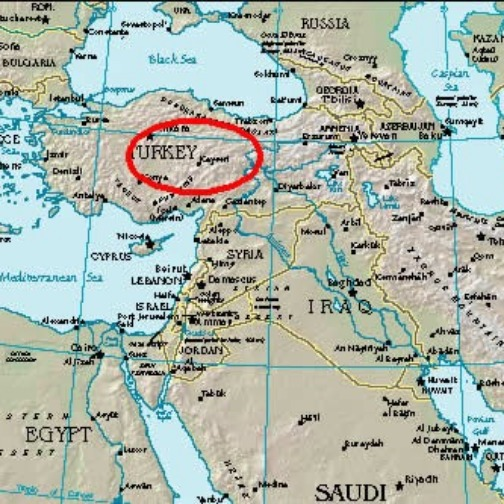 The Hittite Empire on a modern map