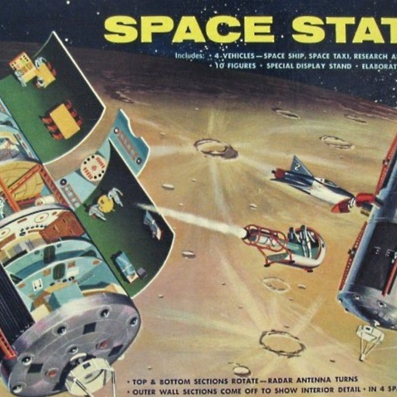 Model space station