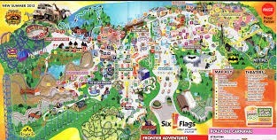 Six Flags Great Adventure park map.