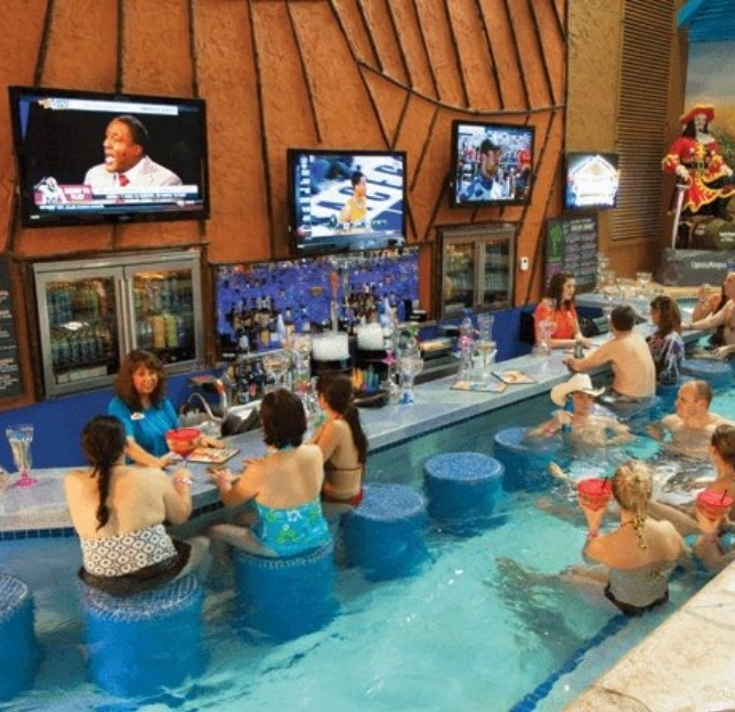 Swim-up bars for adults