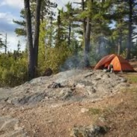 Camping by yourself can be fun.