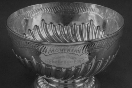 The original Stanley Cup.