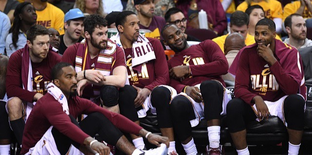 The Cavaliers waiting on the game.