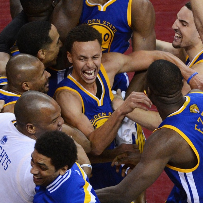 The Warriors win during the 2017 NBA championship.